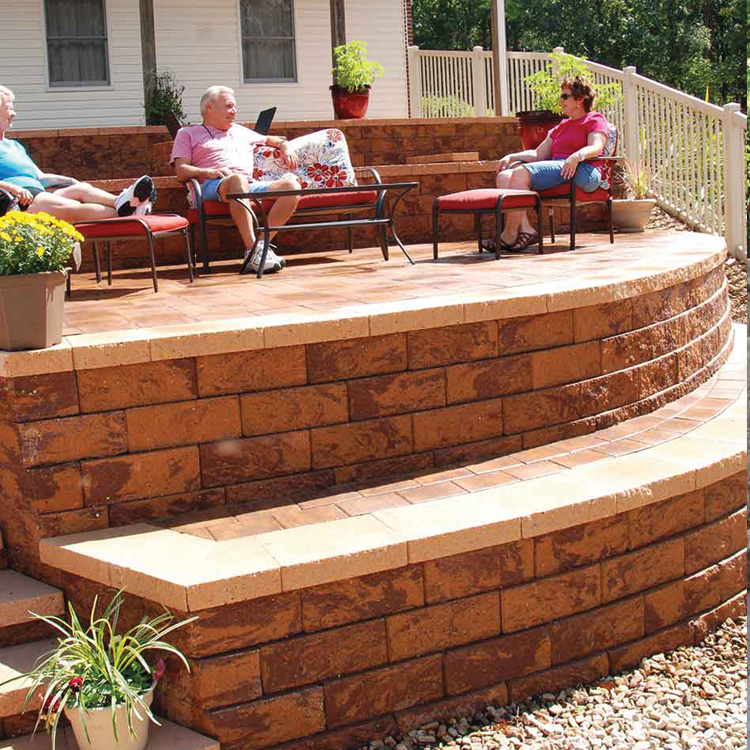 Firma Retaining Wall shown in Golden Brown.