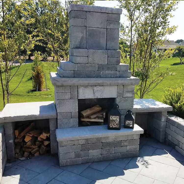 Mini Verona Outdoor Fireplace Nicolock
