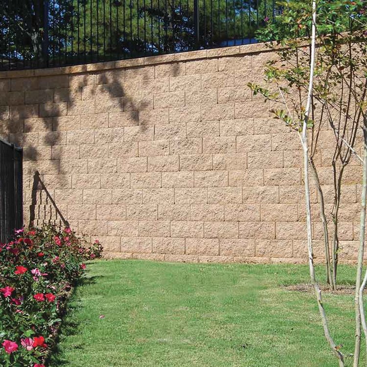 Trinity Retaining Wall shown in Mojave (special order only).