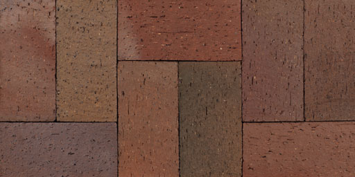 Flashed Maroon Pavers
