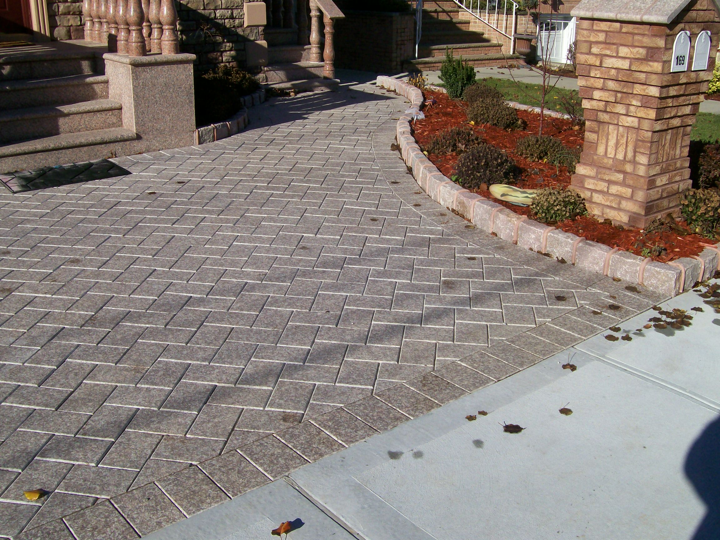 Red Granite Driveway : Pavers by stone kings building material