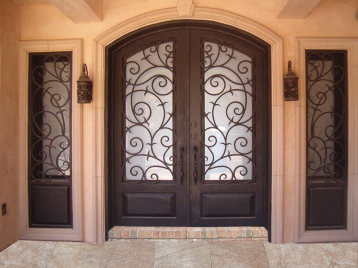 wrought iron front doorsWrought Iron Doors  Kings Building Material