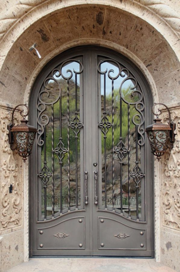 Wrought iron doors kings building material for Door design of iron