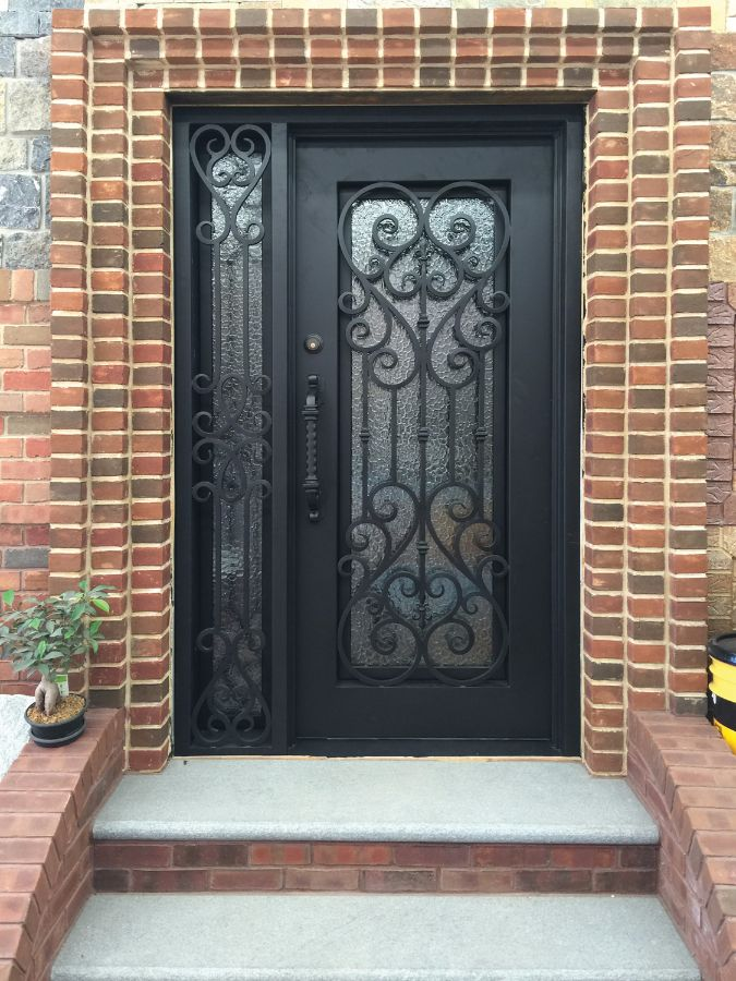 Wrought iron doors kings building material