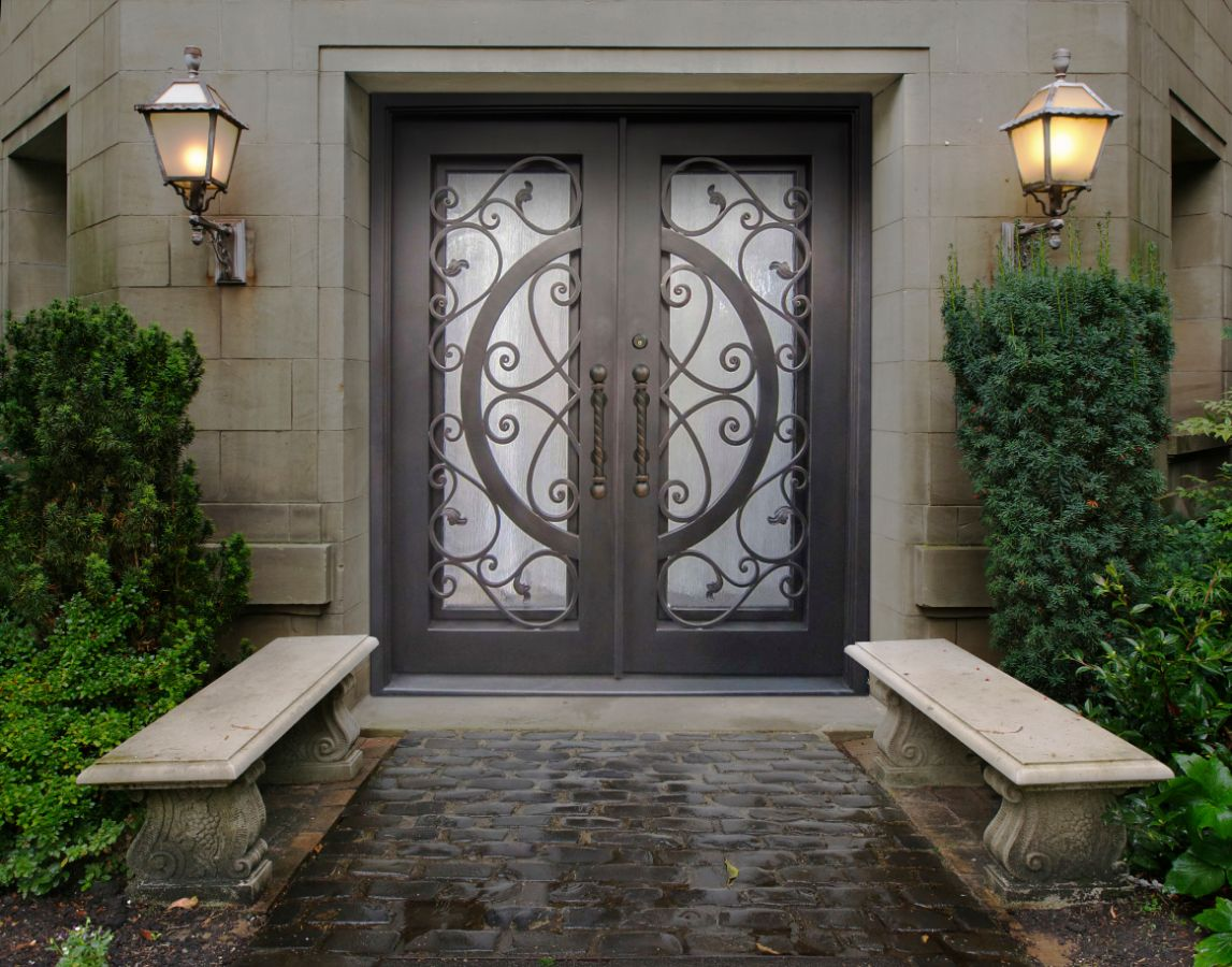 Quality Wrought Iron Doors at an Affordable Price & Wrought Iron Doors | Kings Building Material Pezcame.Com