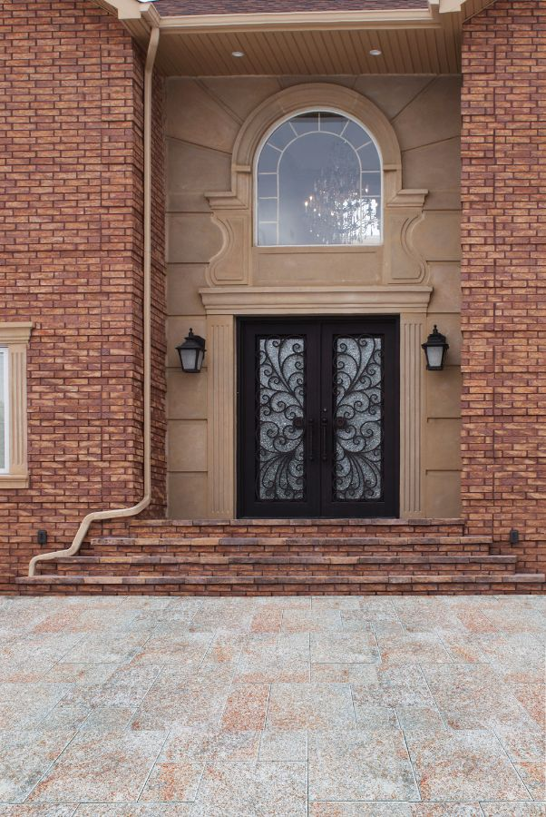 Sh 02 Wrought Iron Door With Sidelights Kings Building