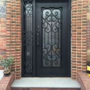Exceptionnel SH 09 Wrought Iron Door With Sidelight