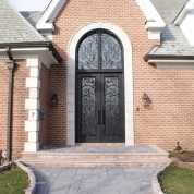 SH 10 Wrought Iron Door with Transom
