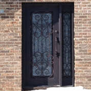 SH 09 Wrought Iron Door with Sidelight