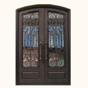 SH 05 Wrought Iron Steel Entry Doors  Kings Building Material