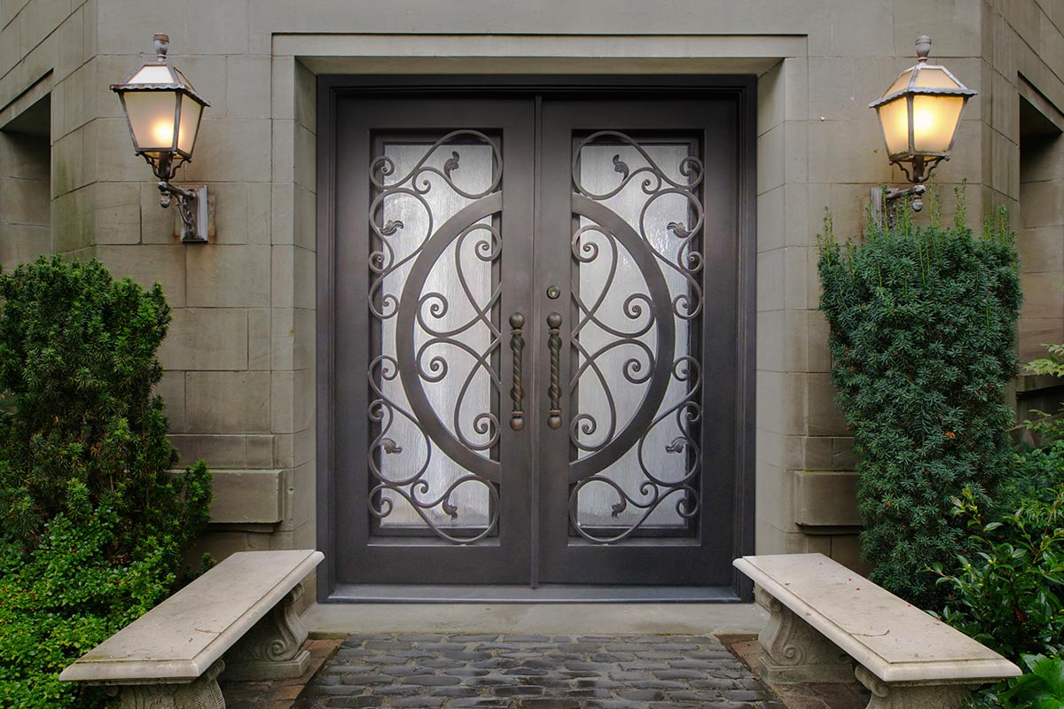 800 #405F27  Doors Will Give You Security And Piece Of Mind View Digital Door pic Wood Wrought Iron Doors 43111200