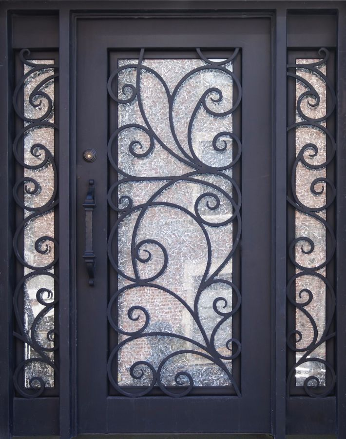 Sh 02 Wrought Iron Door With Sidelights Stonehenge Us