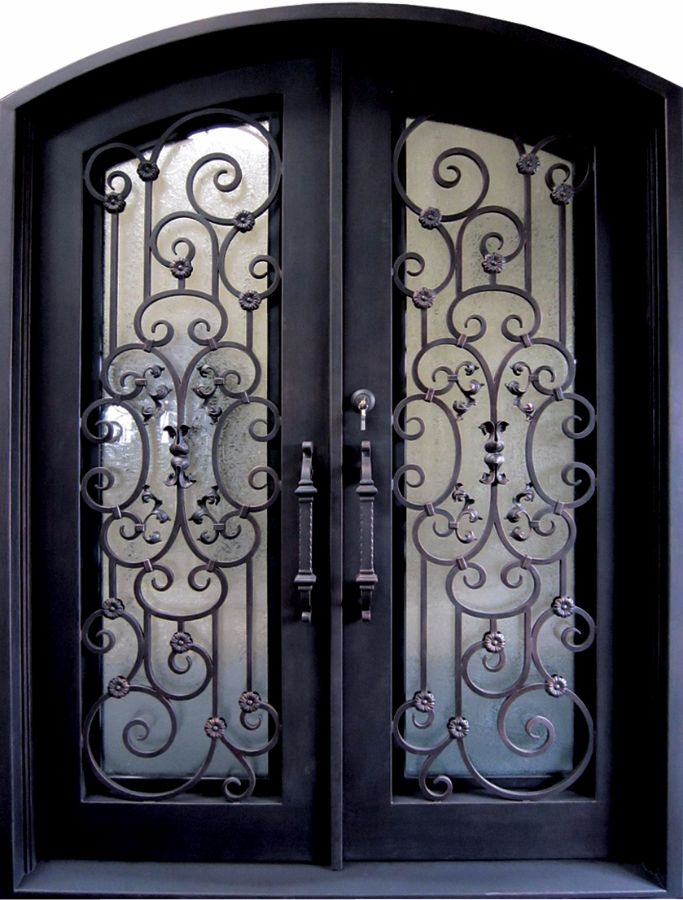 SH-52-wrought-iron-door & SH 52 Wrought Iron Door | Kings Building Material Pezcame.Com