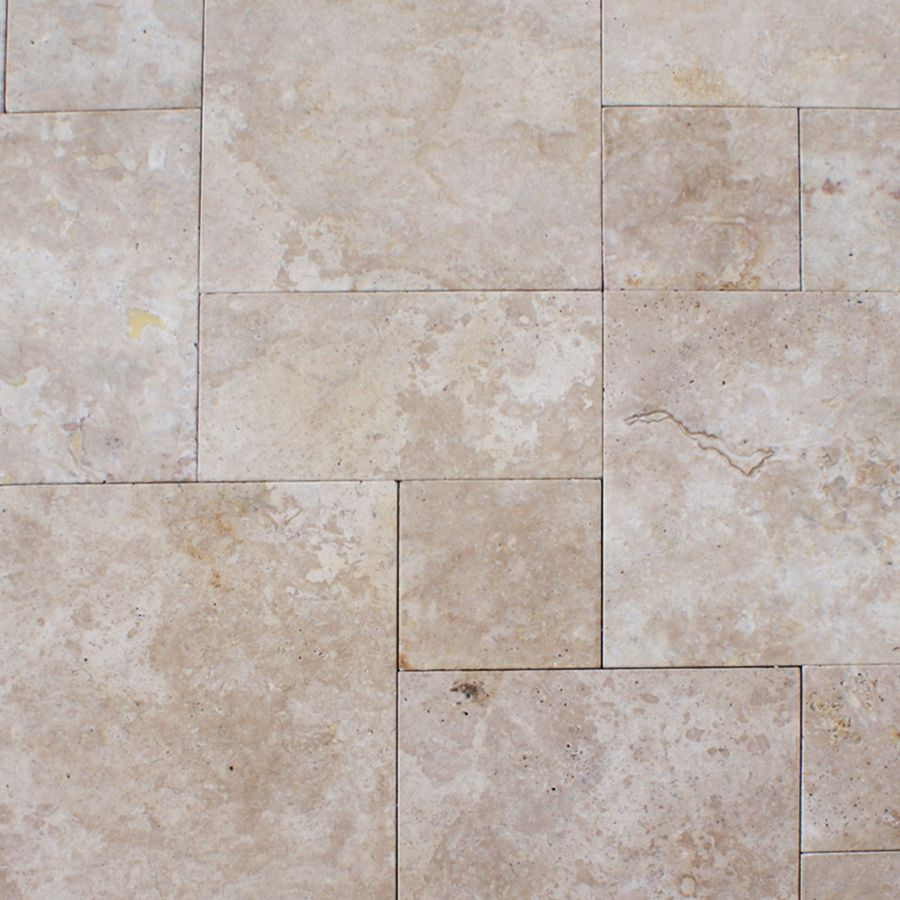 cream travertine pavers french