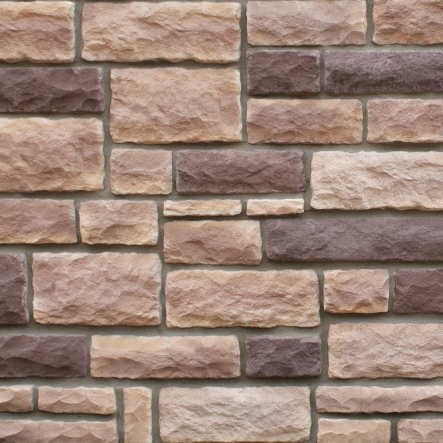 manufactured stone rubble mocha