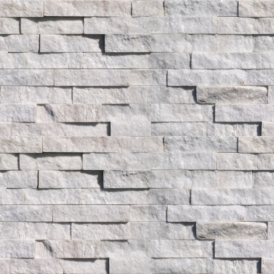 natural ledgestone arctic white