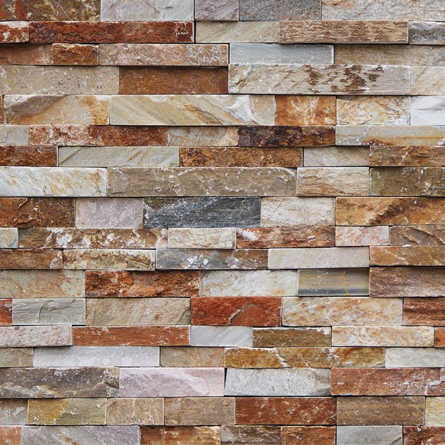 natural ledgestone golden white