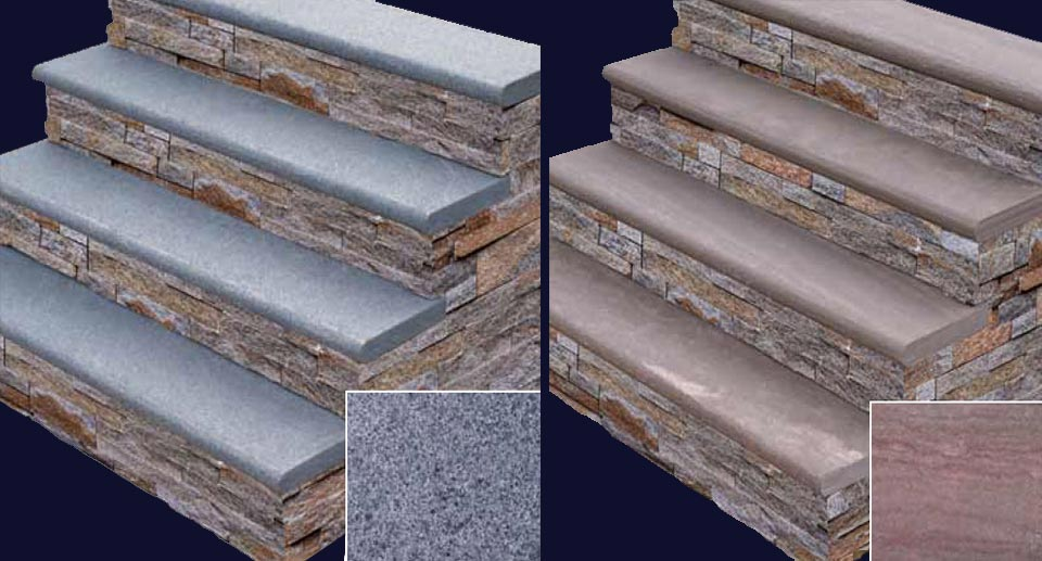 Available In Granite U0026 Sandstone, These Quality Stair Treads Are Available  In Multiple Colors To Compliment Your Project.