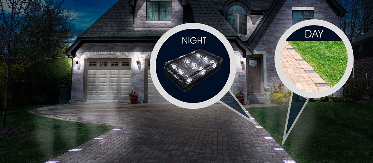 solar powered paver lights