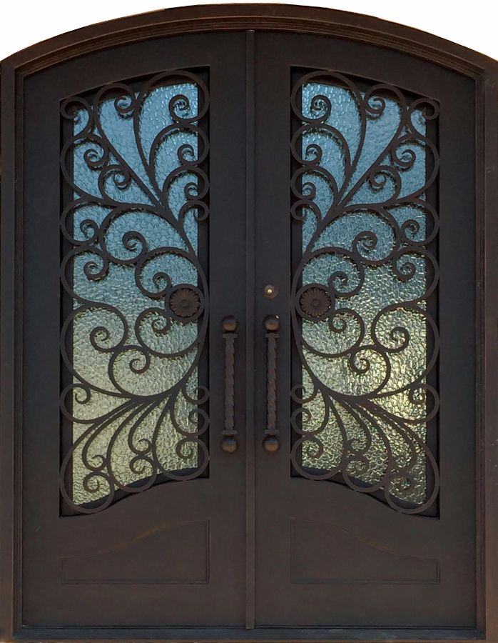 SH-23-wrought-iron-door & SH 23 Wrought Iron Door | Kings Building Material Pezcame.Com