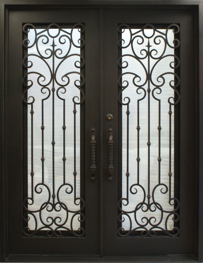 SH-55-wrought-iron-door & SH 55 Wrought Iron Door | Kings Building Material Pezcame.Com