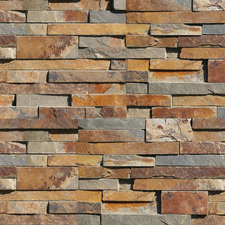 natural ledgestone redwood