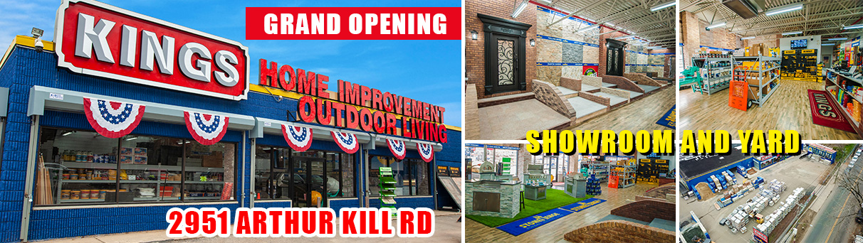 KINGS Arthur Kill Rd location with showroom and yard