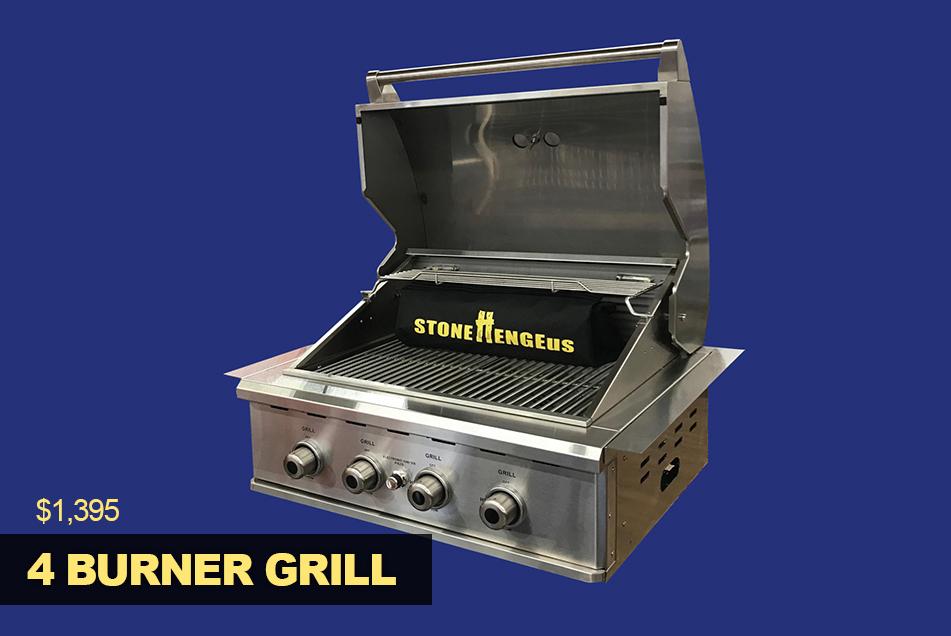 4 burner bbq grill