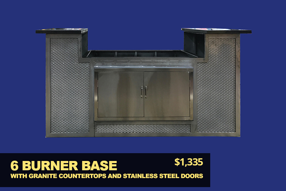6 burner bbq base