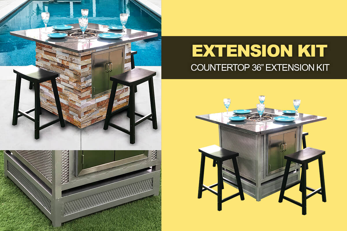 Fire Pit table extension kit