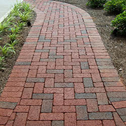 Antique paver walkway