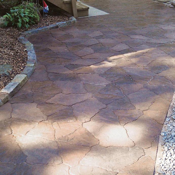 canyon stone pavers on walkway
