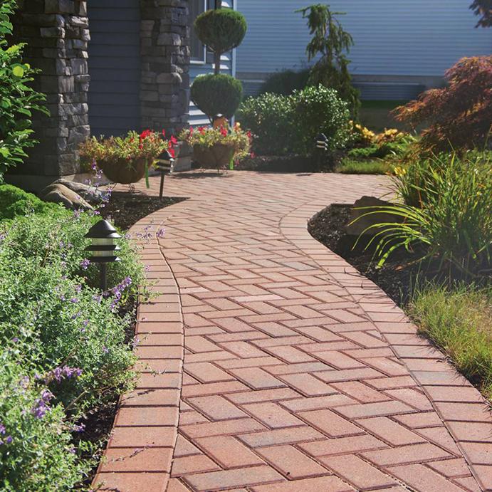 hamilton pavers on walkway